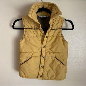 Vintage boys vest in tan/brown, 10-12